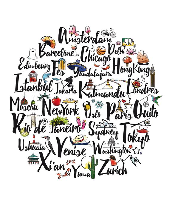 Affiche villes du monde