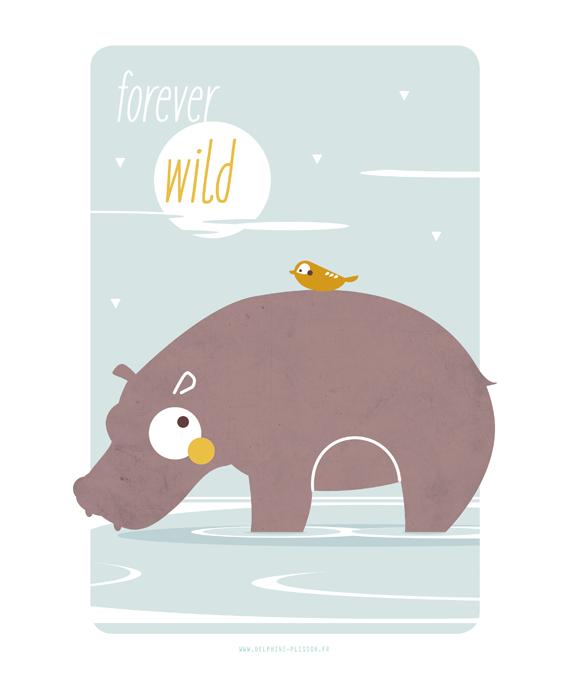 Affiche animaux chambre enfant