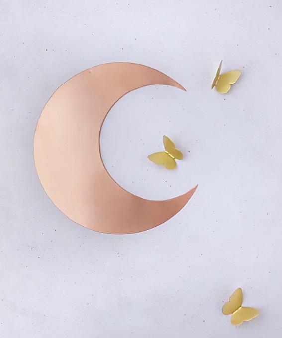 Big lune laiton cuivre