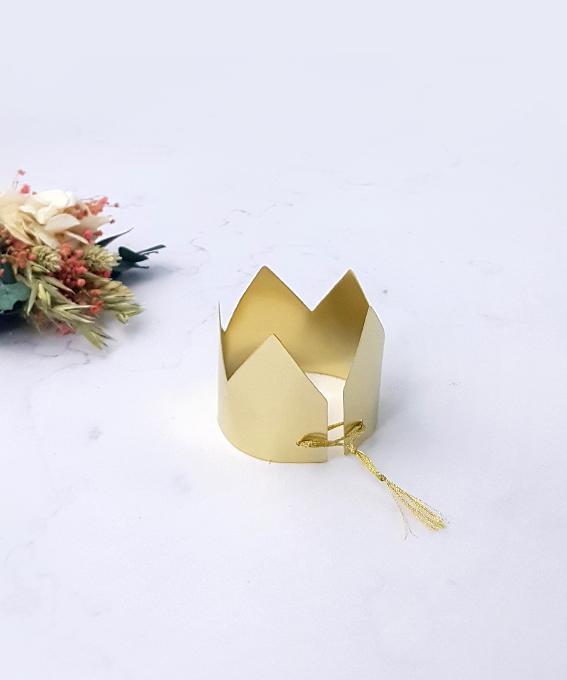 Décoration petite couronne laiton