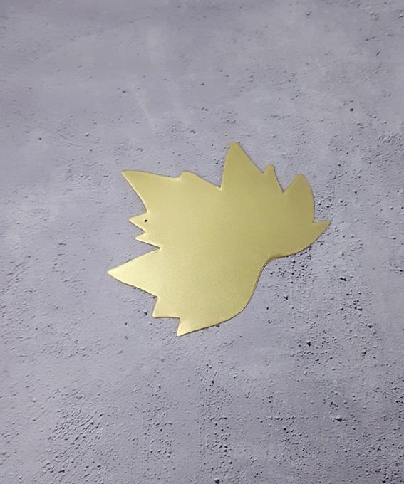 Décoration murale feuille laiton