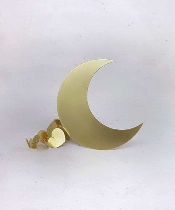Grande lune laiton cuivre