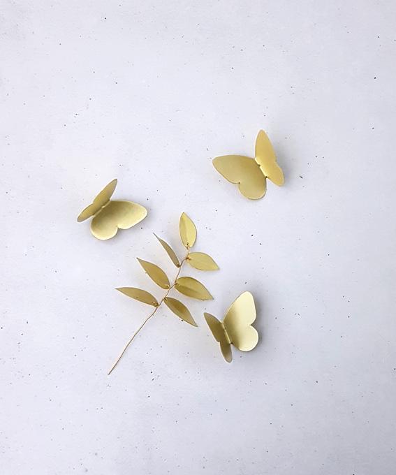 Décoration murale trio mini papillons