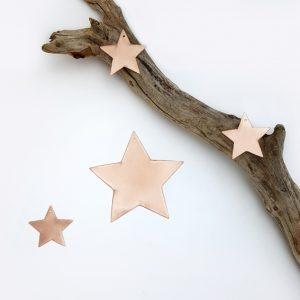 Trio mini étoiles laiton