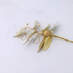 Bouquet feuillage Melia laiton