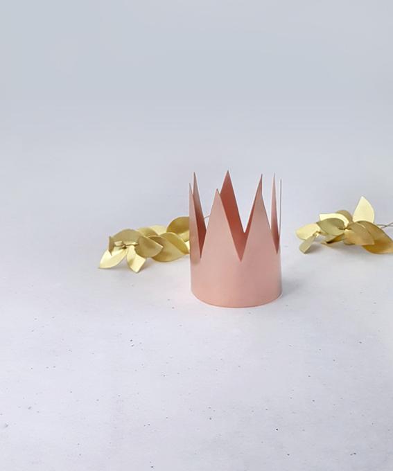 Décoration couronne laiton cuivre