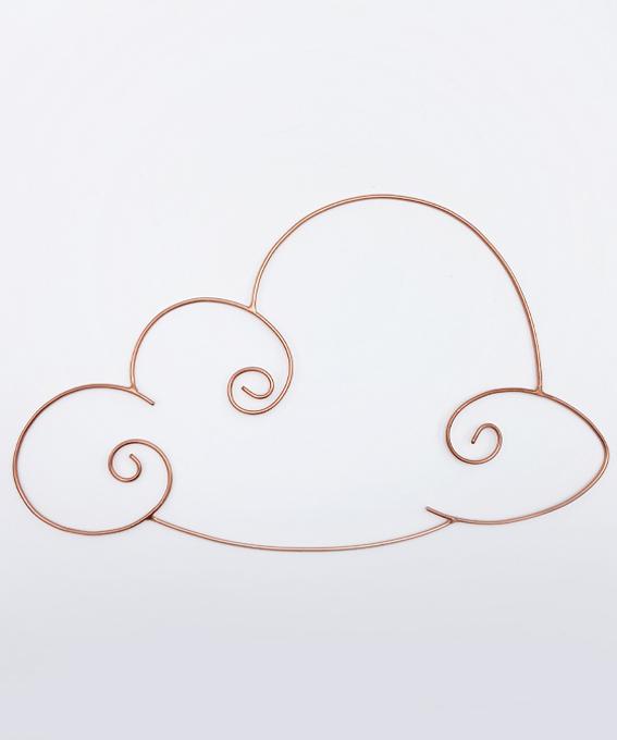 Décoration murale nuage acier
