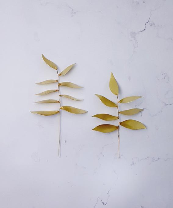 Branche feuillage laiton cuivre