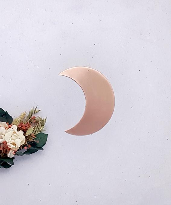 Petite lune laiton cuivre