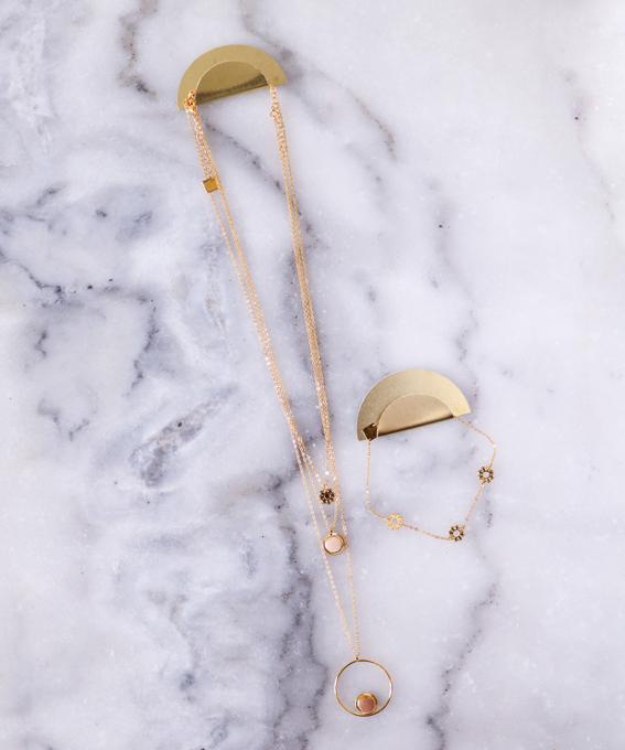 Duo porte bijoux laiton