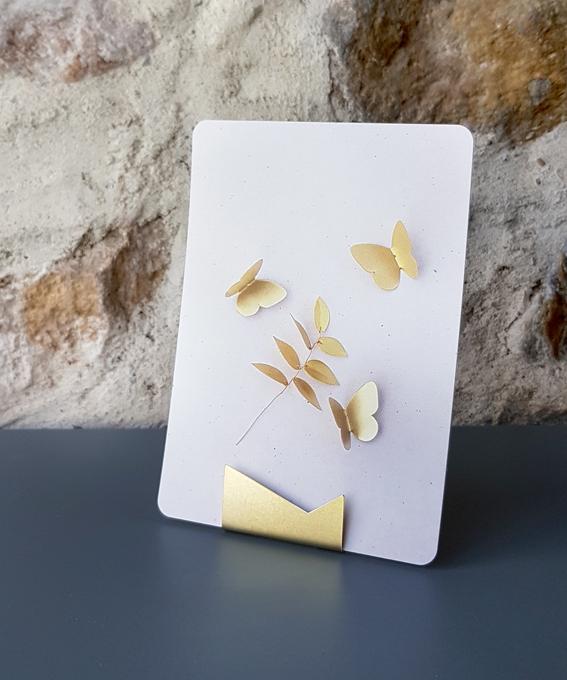 Duo porte carte laiton